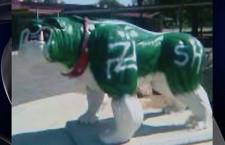 Victim of Vandalism: Bulldog Statue