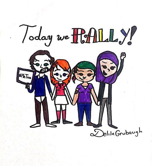 Cartoon by Delila Grubaugh.